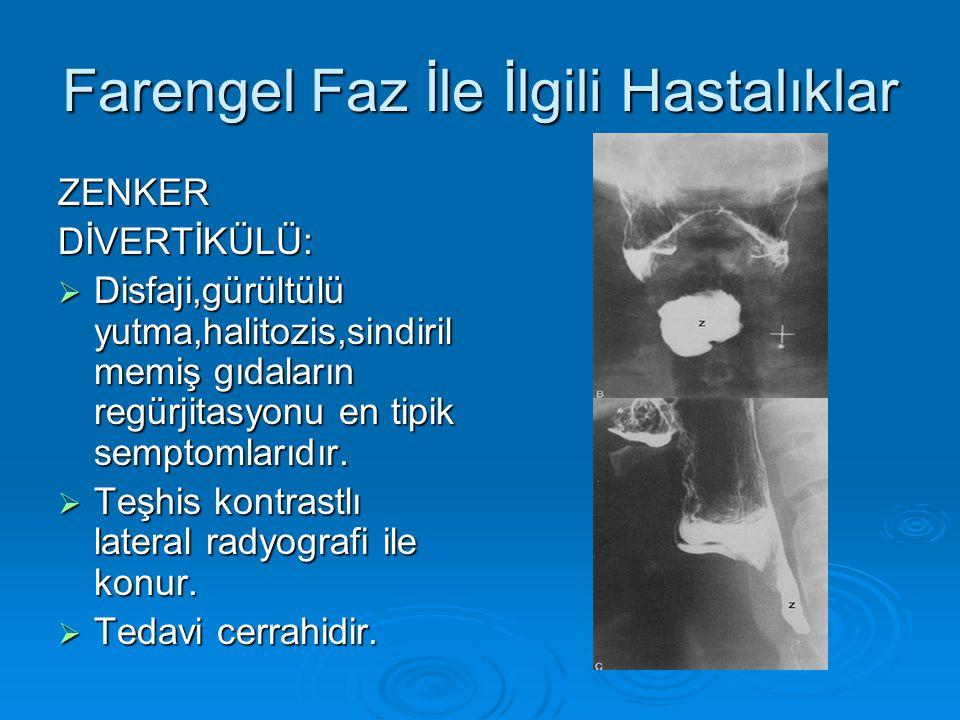 Farengel Faz İle İlgili Hastalıklar