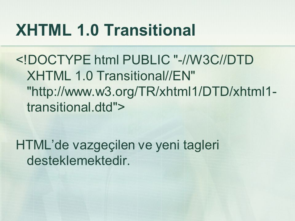 XHTML 1.0 Transitional <!DOCTYPE html PUBLIC -//W3C//DTD XHTML 1.0 Transitional//EN   >