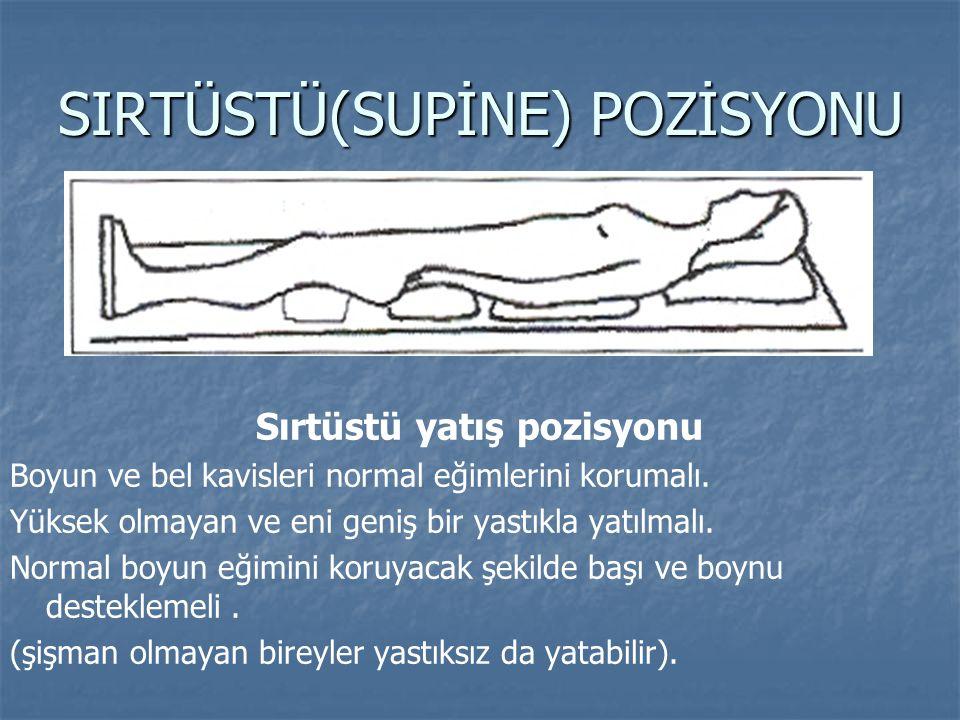 SIRTÜSTÜ(SUPİNE) POZİSYONU