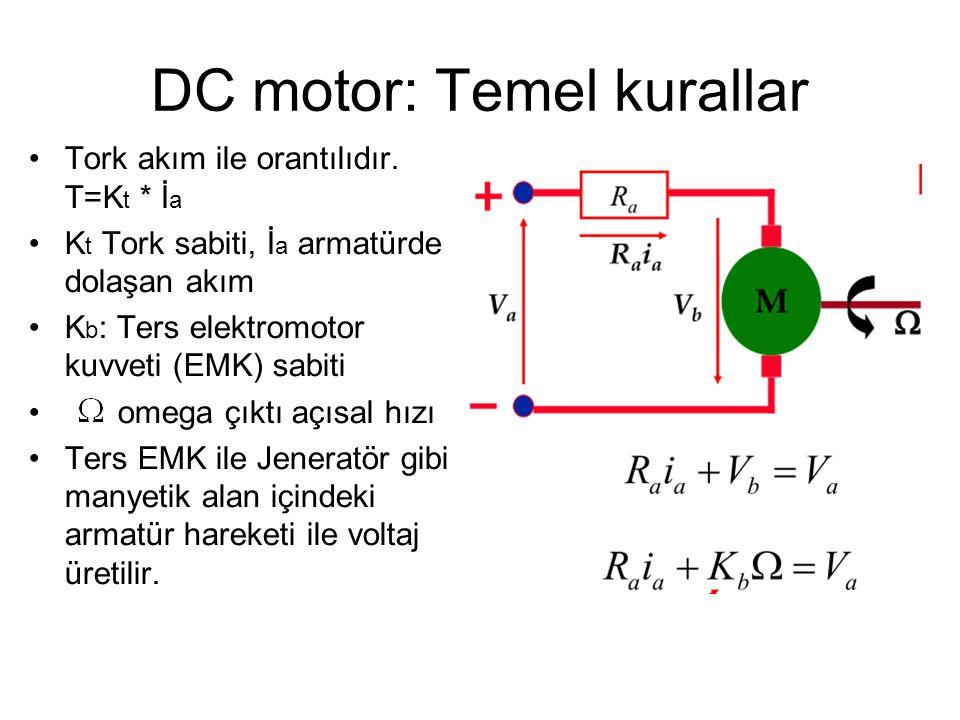 DC motor: Temel kurallar