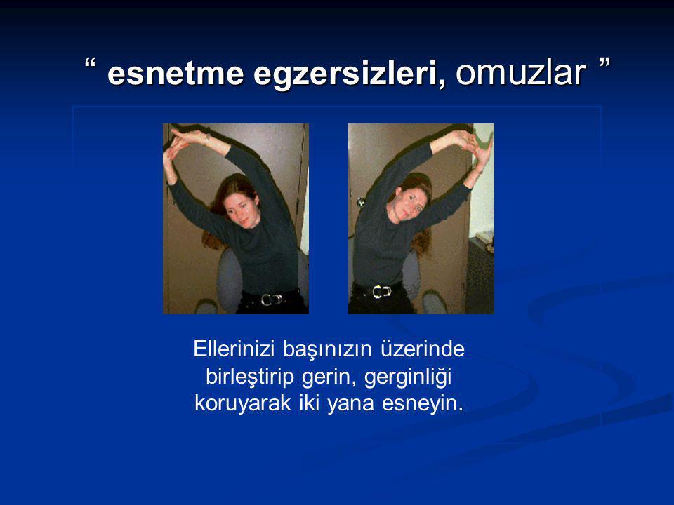 esnetme egzersizleri, omuzlar