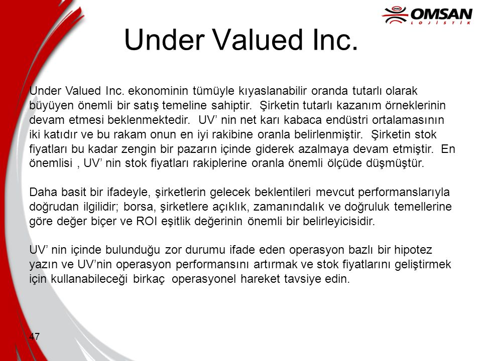 Under Valued Inc.