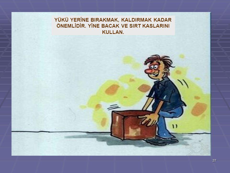 YÜKÜ YERİNE BIRAKMAK, KALDIRMAK KADAR ÖNEMLİDİR