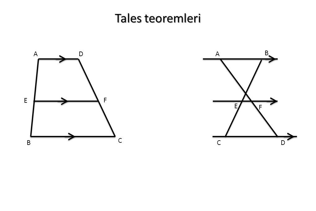 Tales teoremleri A B C D F E A B E F C D