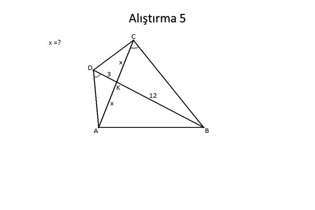 Alıştırma 5 x =