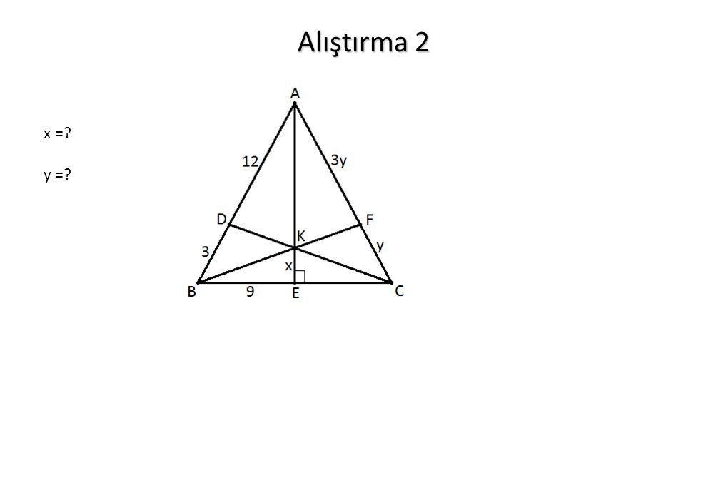 Alıştırma 2 x = y =