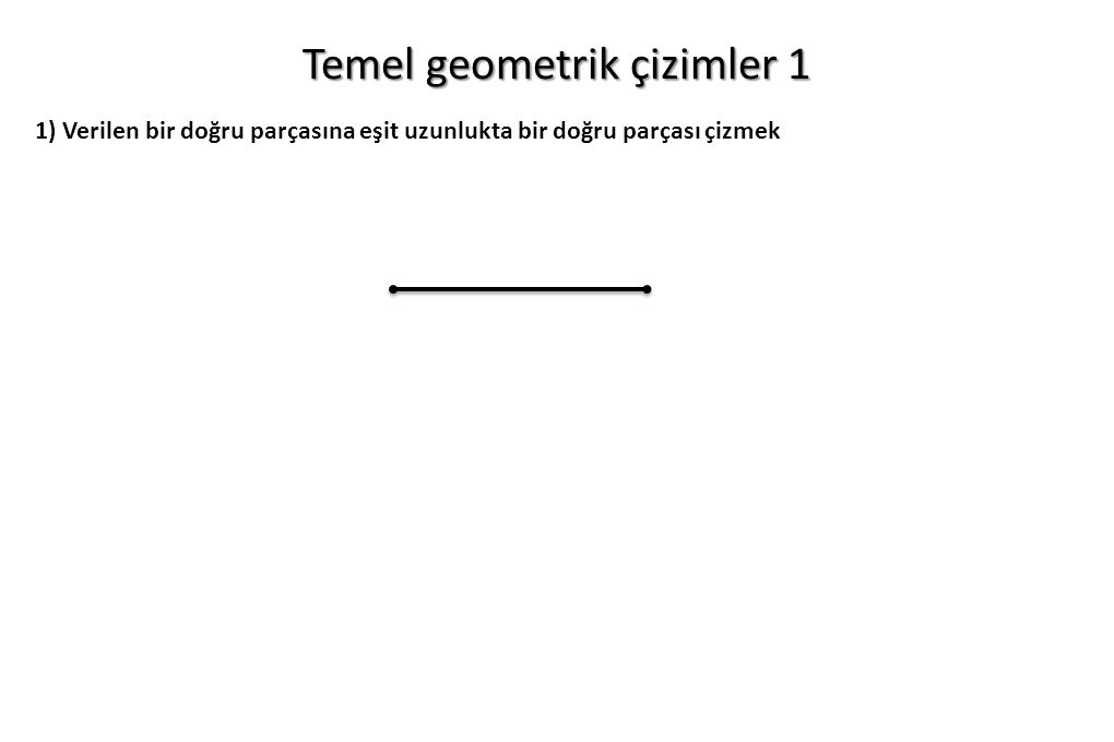 Temel geometrik çizimler 1