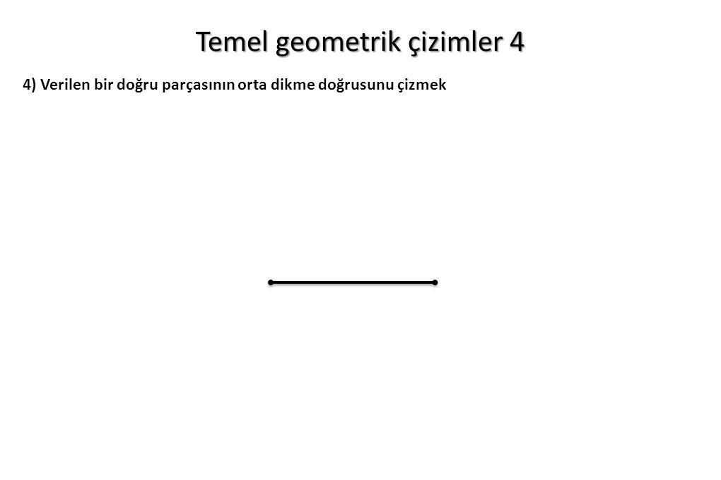 Temel geometrik çizimler 4