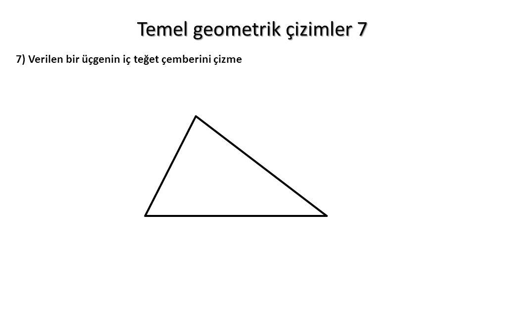 Temel geometrik çizimler 7