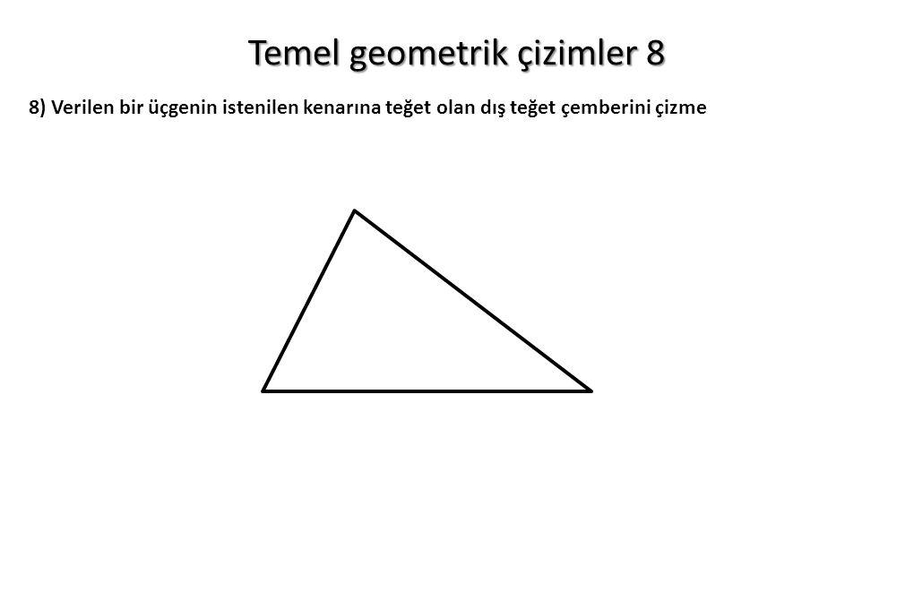 Temel geometrik çizimler 8