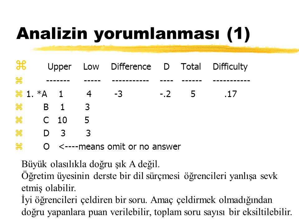 Analizin yorumlanması (1)