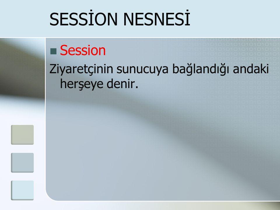 SESSİON NESNESİ Session