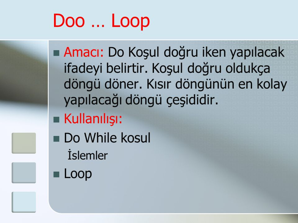 Doo … Loop