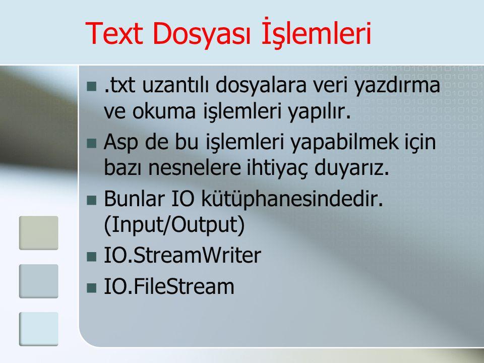 Text Dosyası İşlemleri