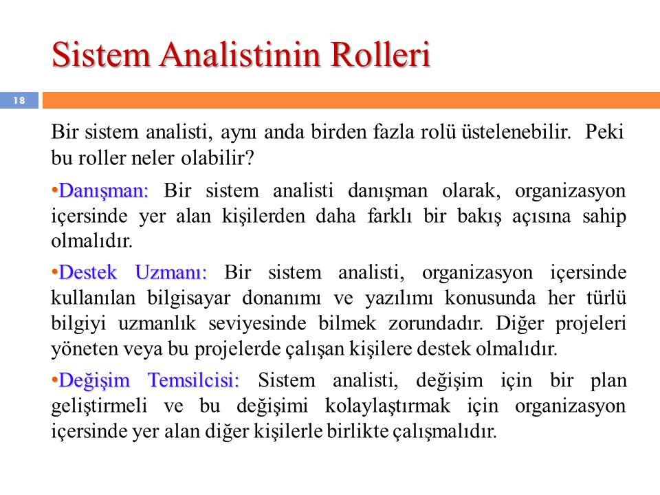 Sistem Analistinin Rolleri