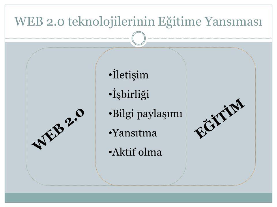 WEB 2.0 teknolojilerinin Eğitime Yansıması