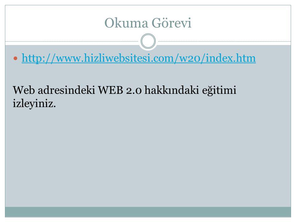 Okuma Görevi http://www.hizliwebsitesi.com/w20/index.htm