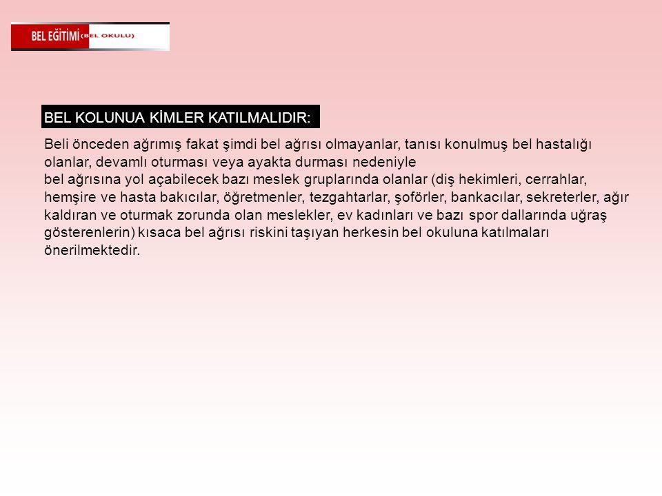 BEL KOLUNUA KİMLER KATILMALIDIR: