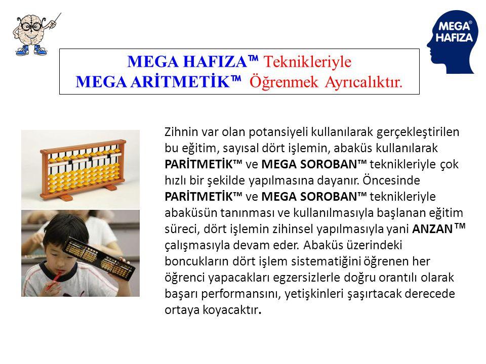 MEGA HAFIZA™ Teknikleriyle MEGA ARİTMETİK™ Öğrenmek Ayrıcalıktır.