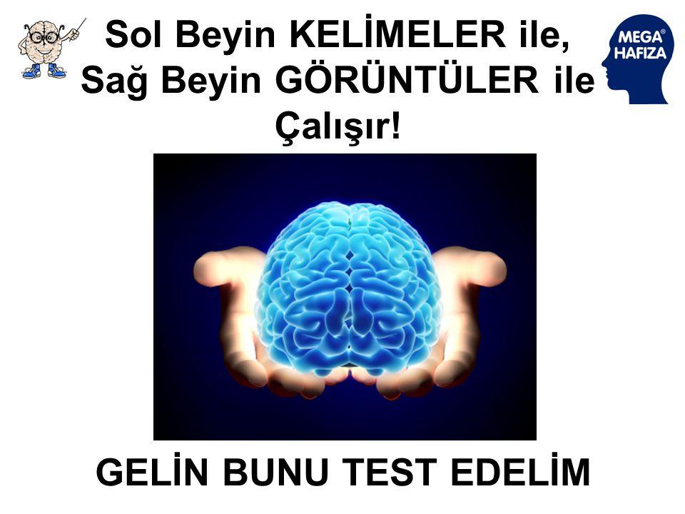 Sol Beyin KELİMELER ile, Sağ Beyin GÖRÜNTÜLER ile Çalışır!