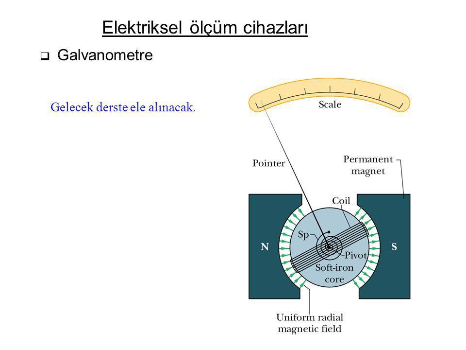 Elektriksel ölçüm cihazları