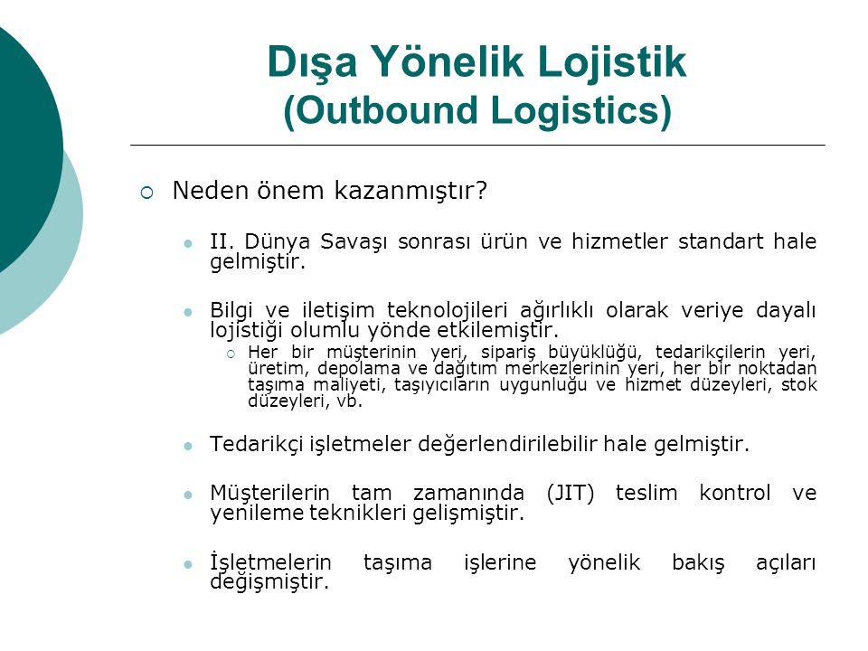 Dışa Yönelik Lojistik (Outbound Logistics)