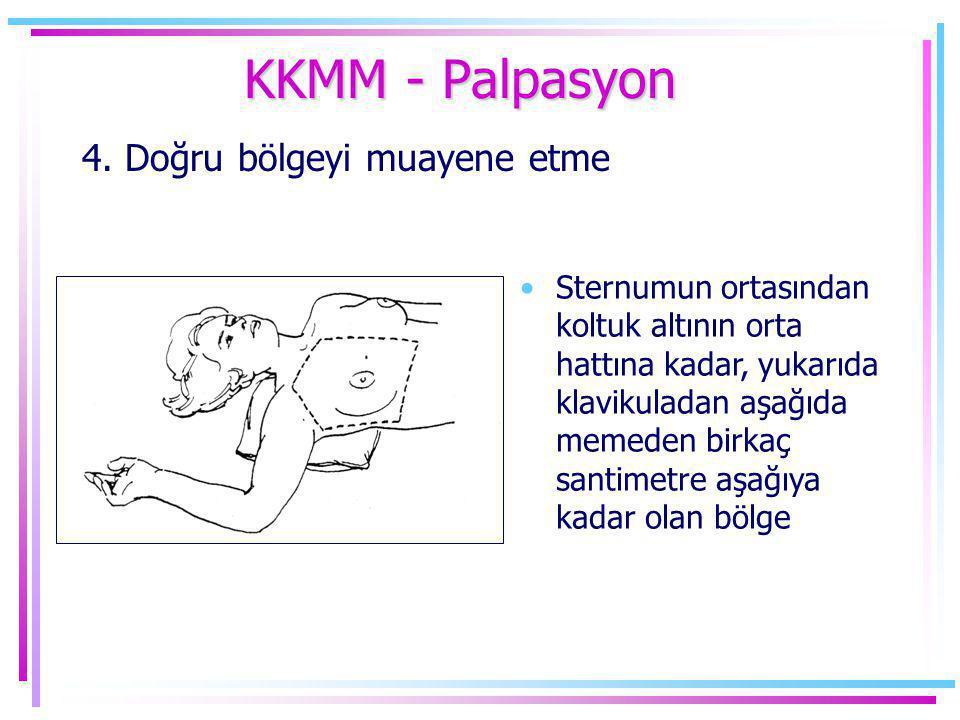 KKMM - Palpasyon 4. Doğru bölgeyi muayene etme
