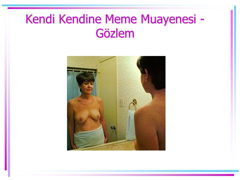 Kendi Kendine Meme Muayenesi - Gözlem