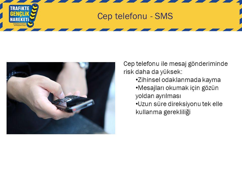 Cep telefonu - SMS Cep telefonu ile mesaj gönderiminde risk daha da yüksek: Zihinsel odaklanmada kayma.