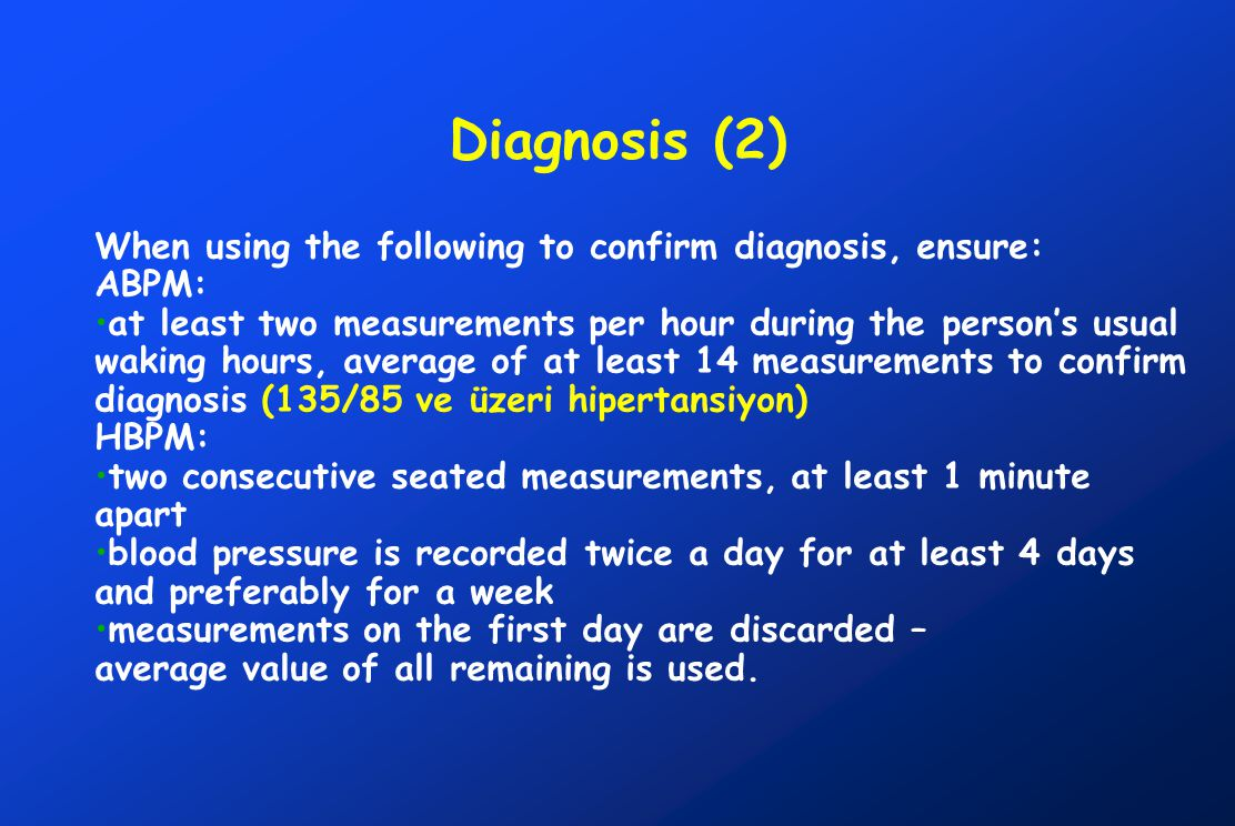 Diagnosis (2) When using the following to confirm diagnosis, ensure: