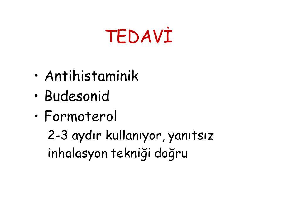 TEDAVİ Antihistaminik Budesonid Formoterol
