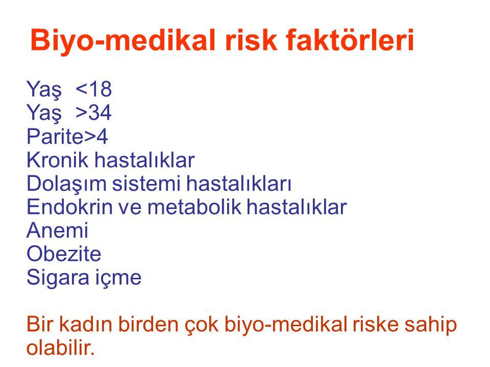 Biyo-medikal risk faktörleri