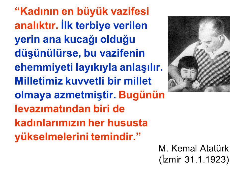 M. Kemal Atatürk (İzmir 31.1.1923)