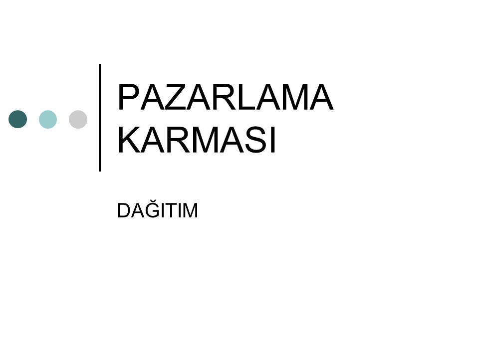 PAZARLAMA KARMASI DAĞITIM