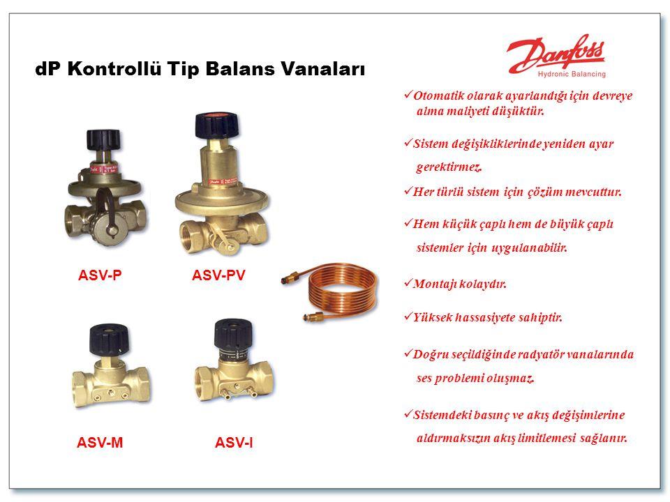 dP Kontrollü Tip Balans Vanaları