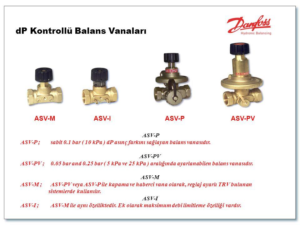 dP Kontrollü Balans Vanaları