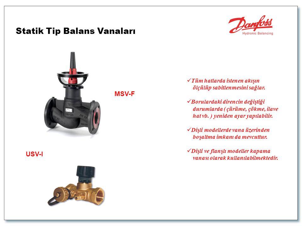 Statik Tip Balans Vanaları