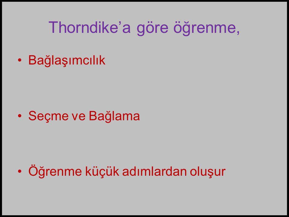 Thorndike'a göre öğrenme,