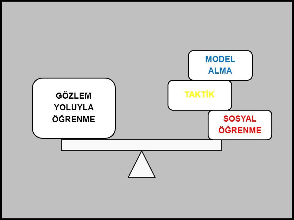 ÖĞRENME YOLUYLA GÖZLEM SOSYAL TAKTİK MODEL ALMA