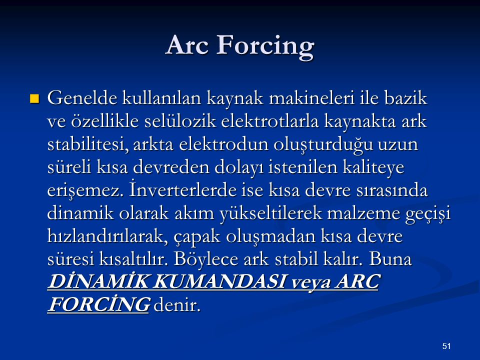 Arc Forcing