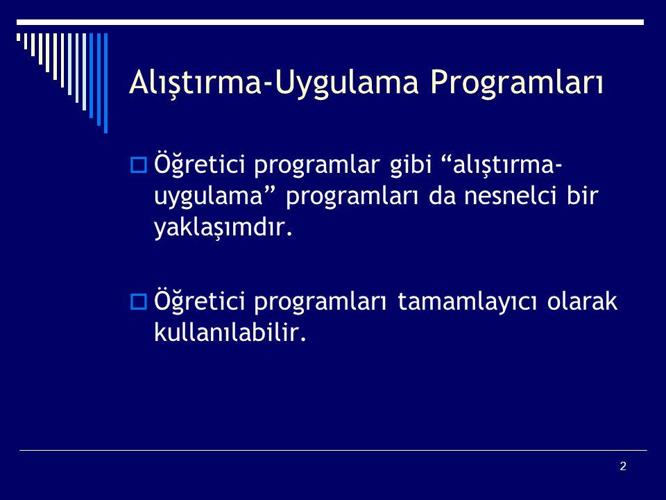 Alıştırma-Uygulama Programları