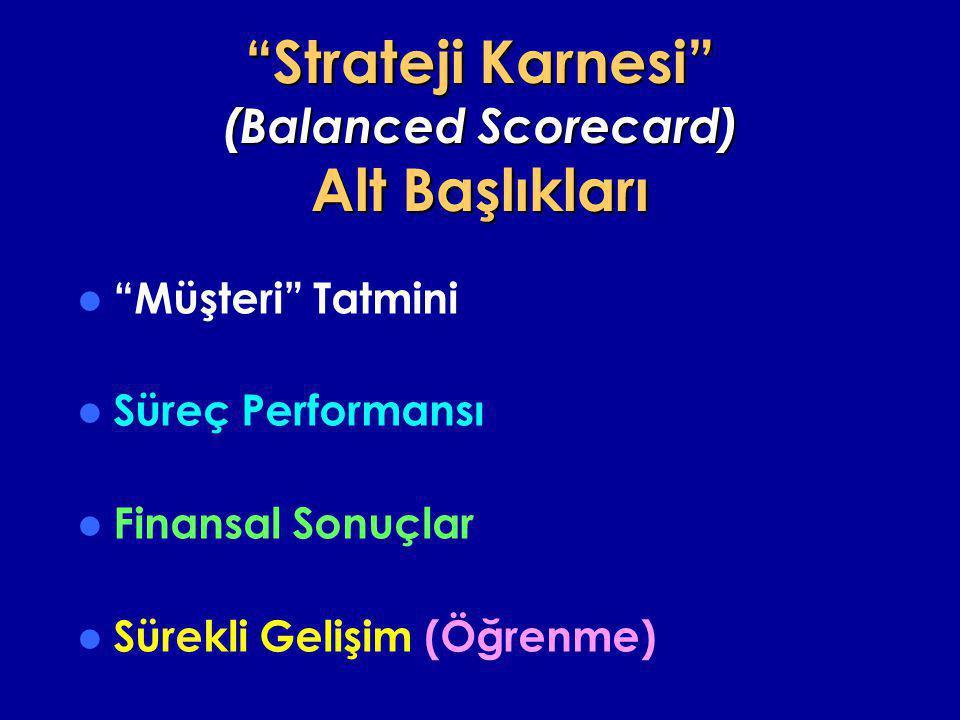 Strateji Karnesi (Balanced Scorecard) Alt Başlıkları