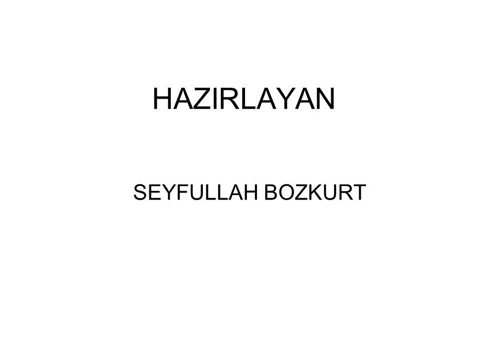 HAZIRLAYAN SEYFULLAH BOZKURT