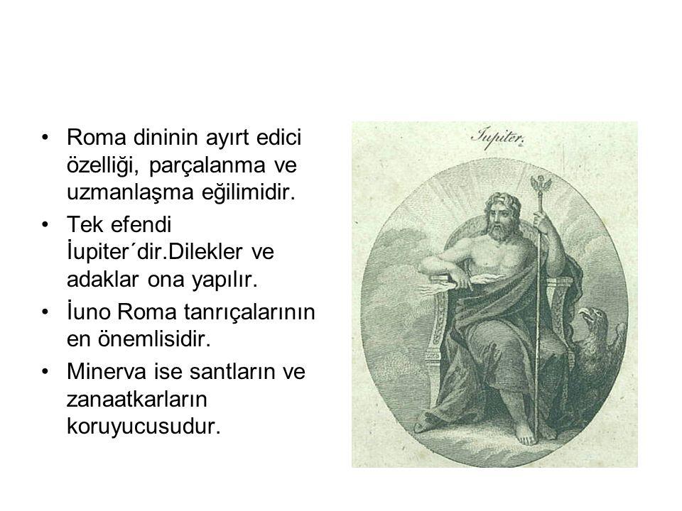 Roma dininin ayırt edici özelliği, parçalanma ve uzmanlaşma eğilimidir.