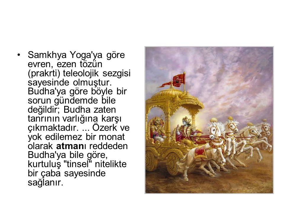 Samkhya Yoga ya göre evren, ezen tözün (prakrti) teleolojik sezgisi sayesinde olmuştur.