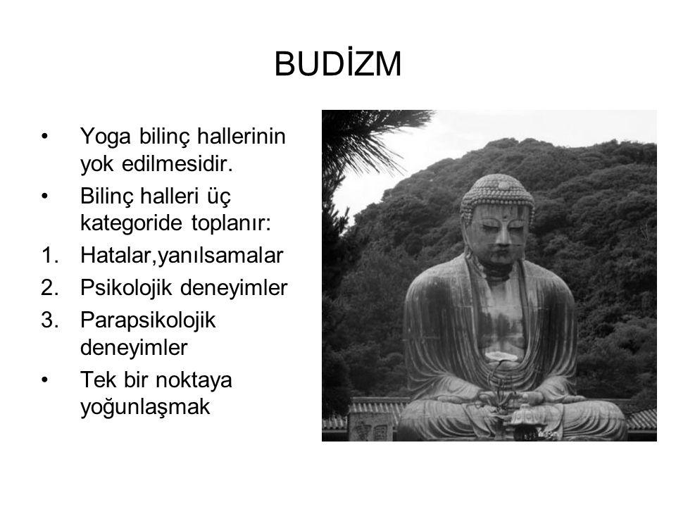 BUDİZM Yoga bilinç hallerinin yok edilmesidir.