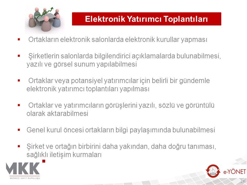 Elektronik Yatırımcı Toplantıları