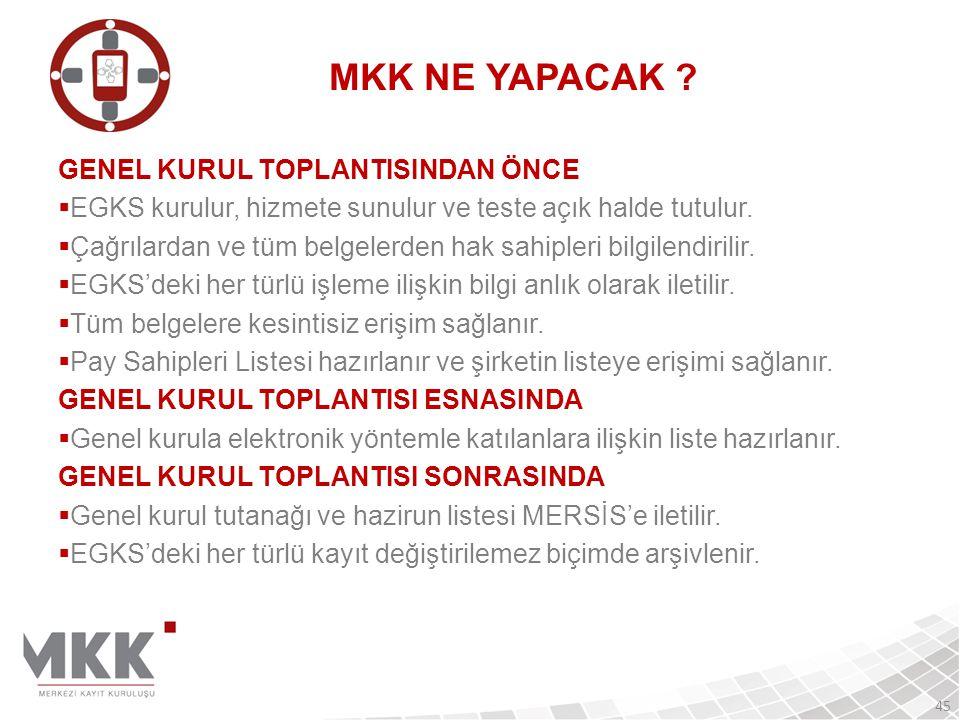 MKK NE YAPACAK GENEL KURUL TOPLANTISINDAN ÖNCE