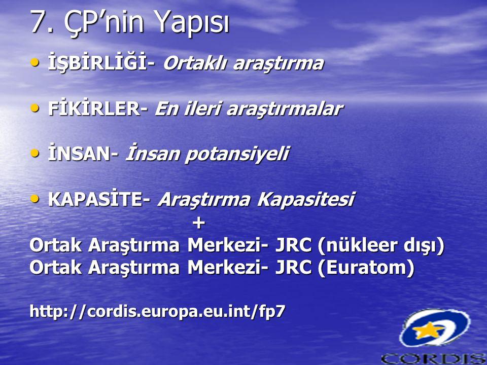 7. ÇP'nin Yapısı İŞBİRLİĞİ- Ortaklı araştırma