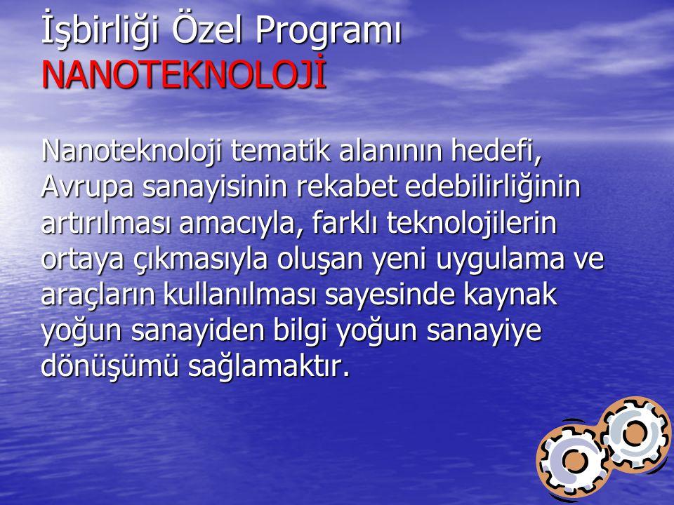 İşbirliği Özel Programı NANOTEKNOLOJİ